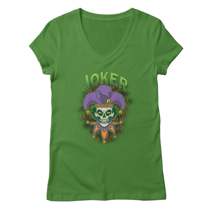 JOKER Women's V-Neck by Inkdwell's Artist Shop