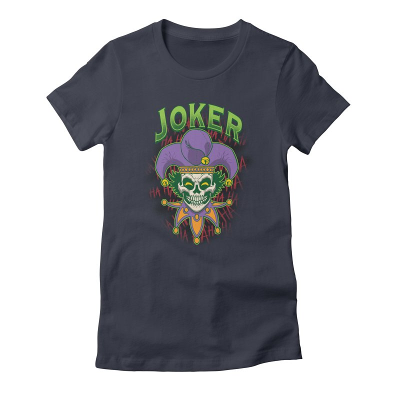 JOKER Women's Fitted T-Shirt by Inkdwell's Artist Shop