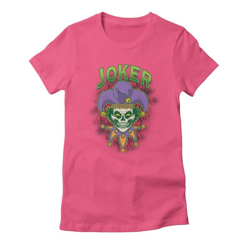 JOKER Women's Fitted T-Shirt by Inkdwell's Artist Shop