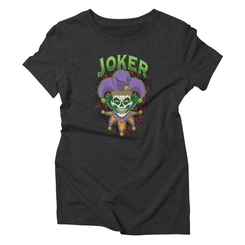 JOKER Women's Triblend T-Shirt by Inkdwell's Artist Shop