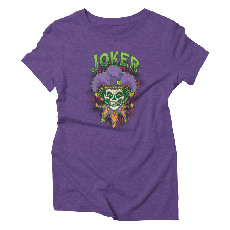 JOKER Women's Triblend T-Shirt by Inkdwell's Artist Shop