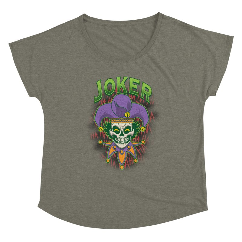 JOKER Women's Scoop Neck by Inkdwell's Artist Shop