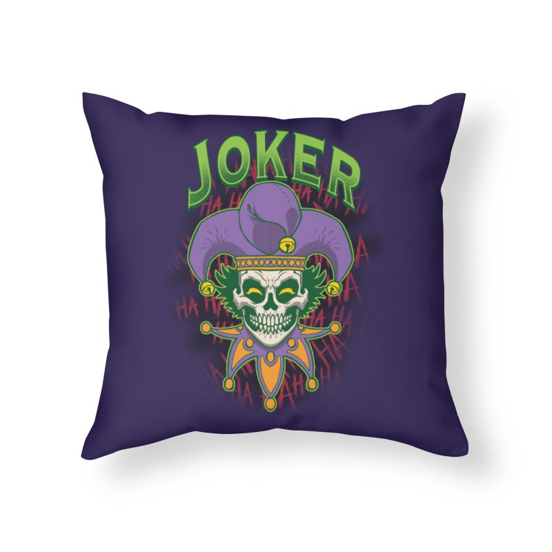 JOKER Home Throw Pillow by Inkdwell's Artist Shop