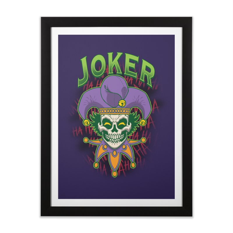 JOKER Home Framed Fine Art Print by Inkdwell's Artist Shop