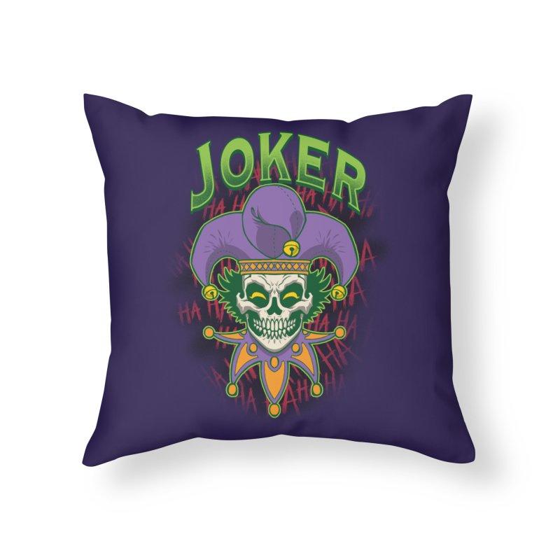 JOKER Home Throw Pillow by Inkdwell's Artist Shop