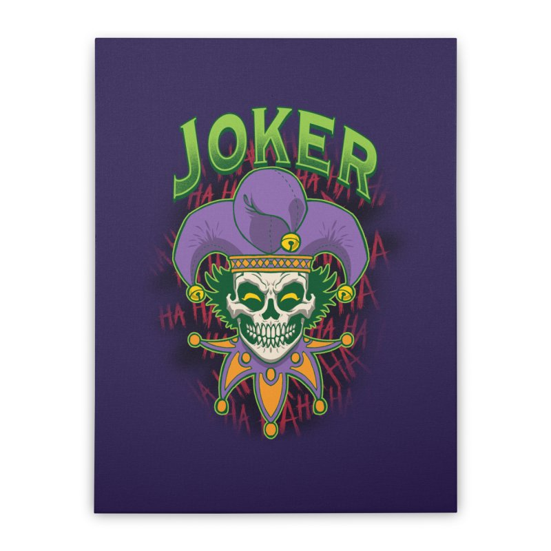 JOKER Home Stretched Canvas by Inkdwell's Artist Shop