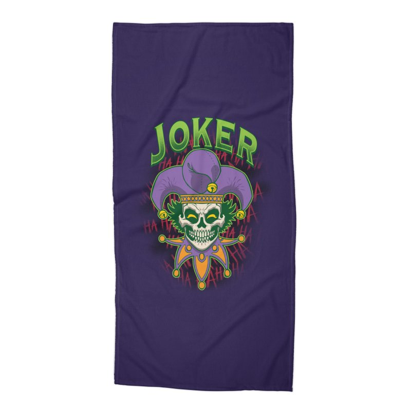 JOKER Accessories Beach Towel by Inkdwell's Artist Shop