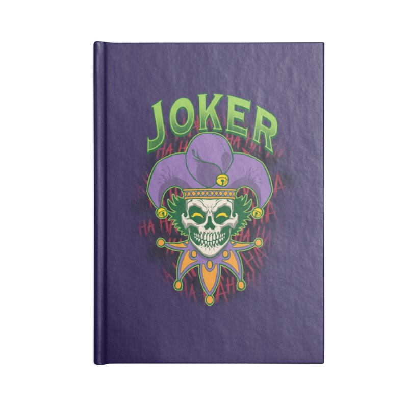 JOKER Accessories Lined Journal Notebook by Inkdwell's Artist Shop