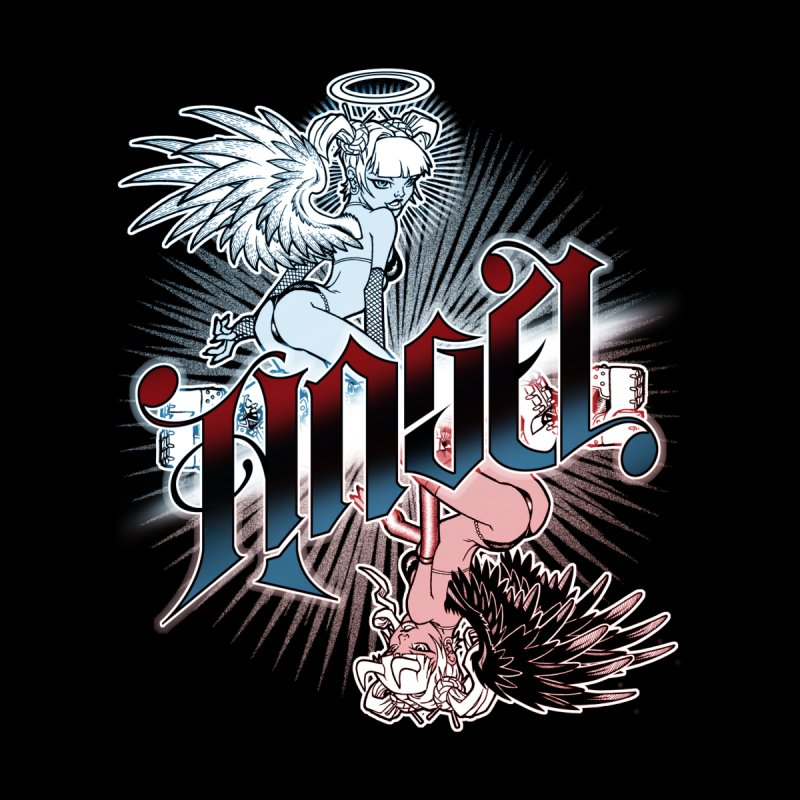 ANGEL DEVIL Women's V-Neck by Inkdwell's Artist Shop