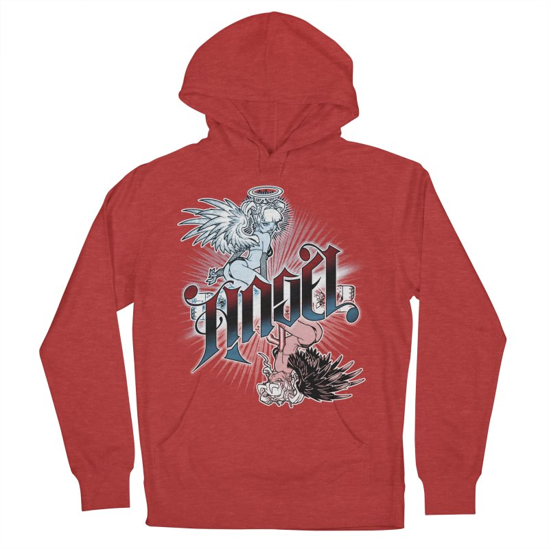 ANGEL DEVIL Women's French Terry Pullover Hoody by Inkdwell's Artist Shop