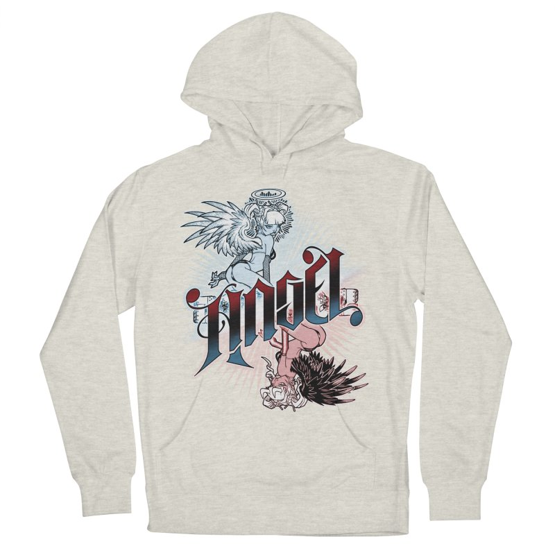 ANGEL DEVIL Men's French Terry Pullover Hoody by Inkdwell's Artist Shop