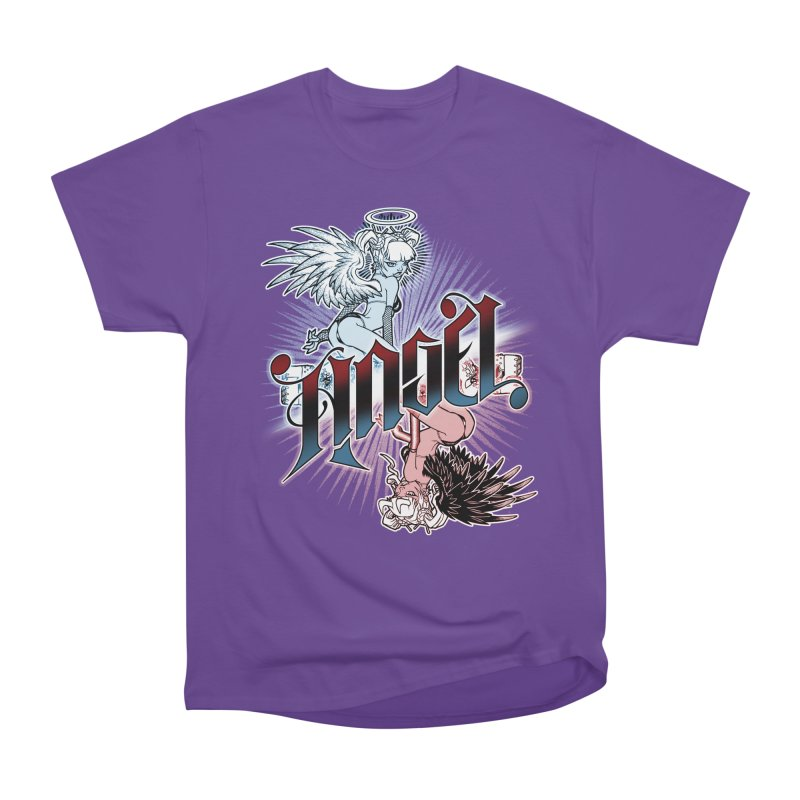 ANGEL DEVIL Women's Heavyweight Unisex T-Shirt by Inkdwell's Artist Shop
