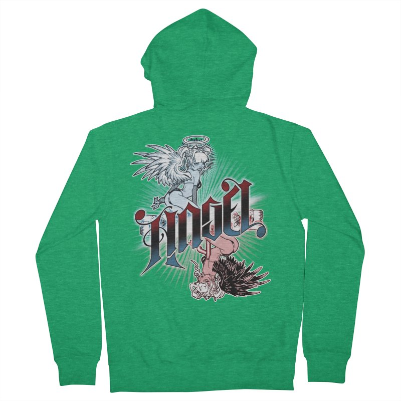 ANGEL DEVIL Women's Zip-Up Hoody by Inkdwell's Artist Shop