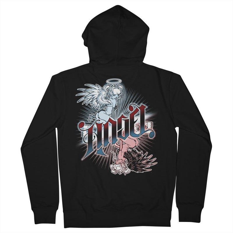 ANGEL DEVIL Men's Zip-Up Hoody by Inkdwell's Artist Shop