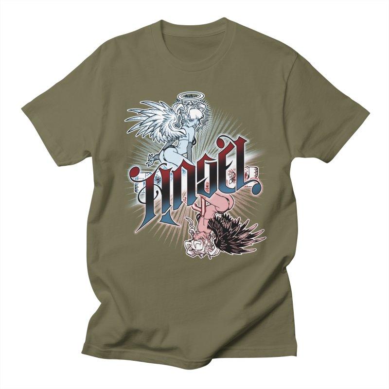 ANGEL DEVIL Men's Regular T-Shirt by Inkdwell's Artist Shop