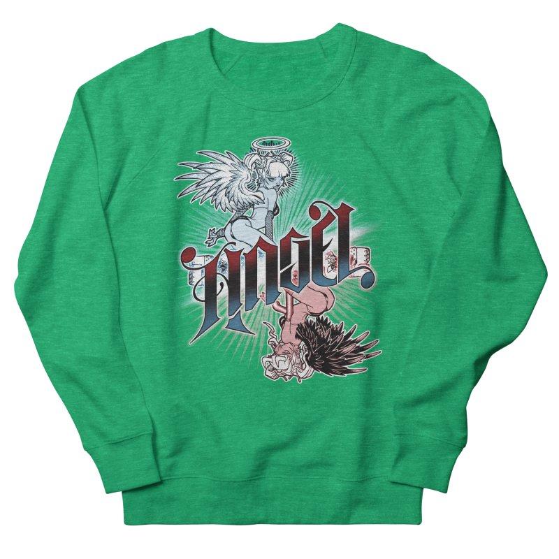 ANGEL DEVIL Women's Sweatshirt by Inkdwell's Artist Shop