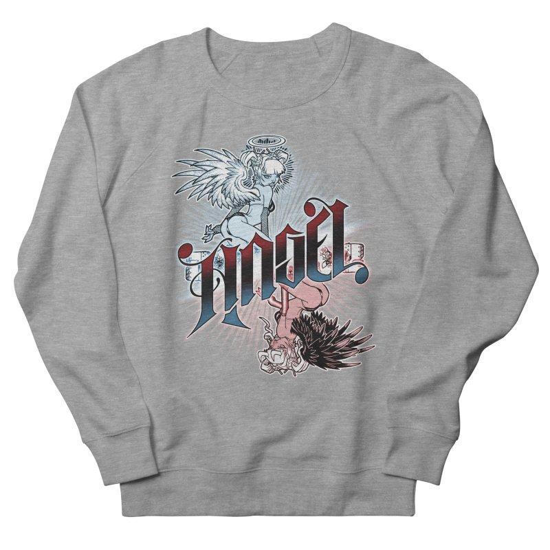 ANGEL DEVIL Women's French Terry Sweatshirt by Inkdwell's Artist Shop