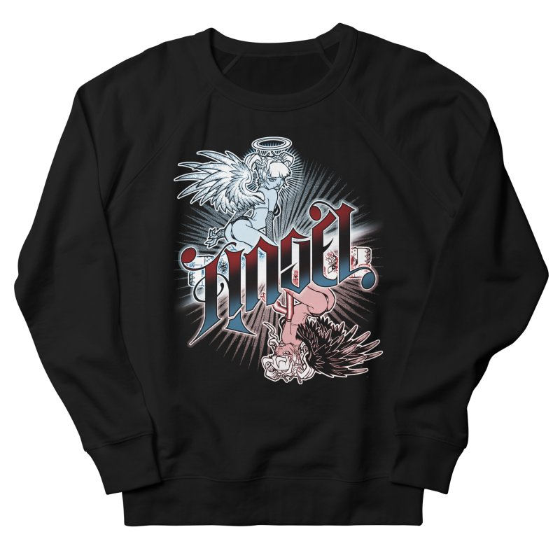 ANGEL DEVIL Women's French Terry Sweatshirt by Inkdwell's Artist Shop