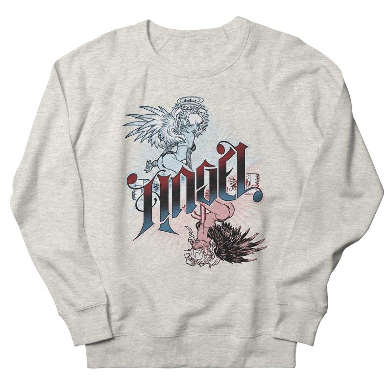 ANGEL DEVIL Men's French Terry Sweatshirt by Inkdwell's Artist Shop