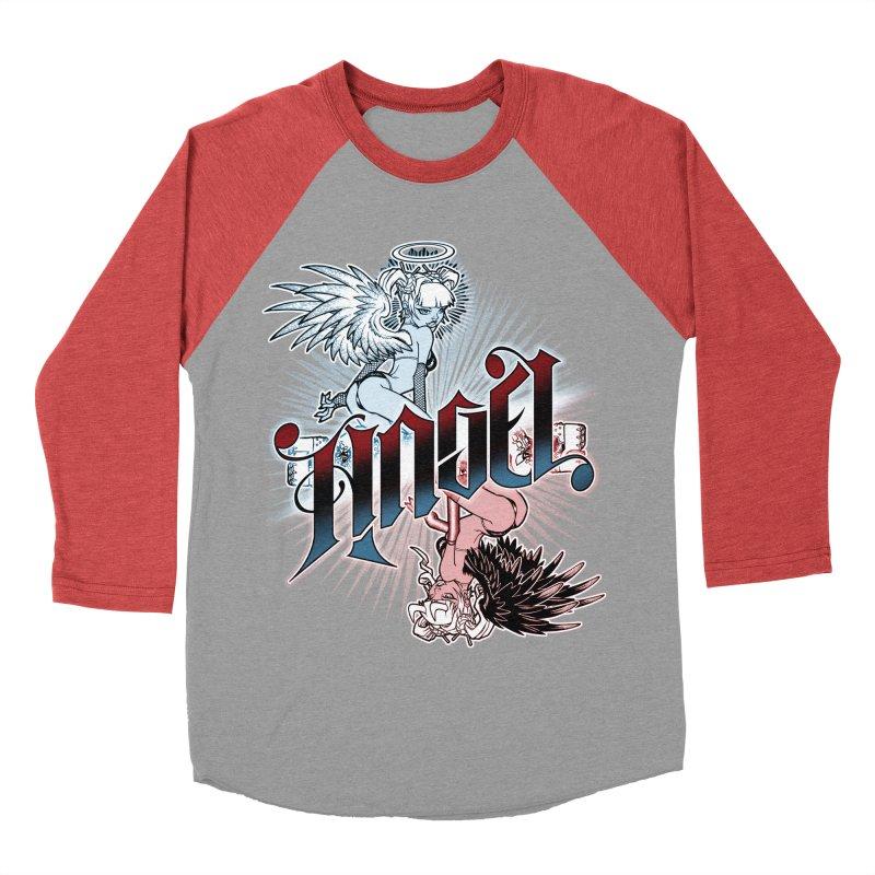 ANGEL DEVIL Women's Baseball Triblend Longsleeve T-Shirt by Inkdwell's Artist Shop
