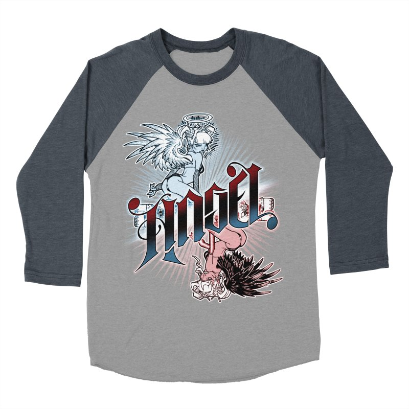 ANGEL DEVIL Women's Baseball Triblend Longsleeve T-Shirt by Inkdwell's Artist Shop
