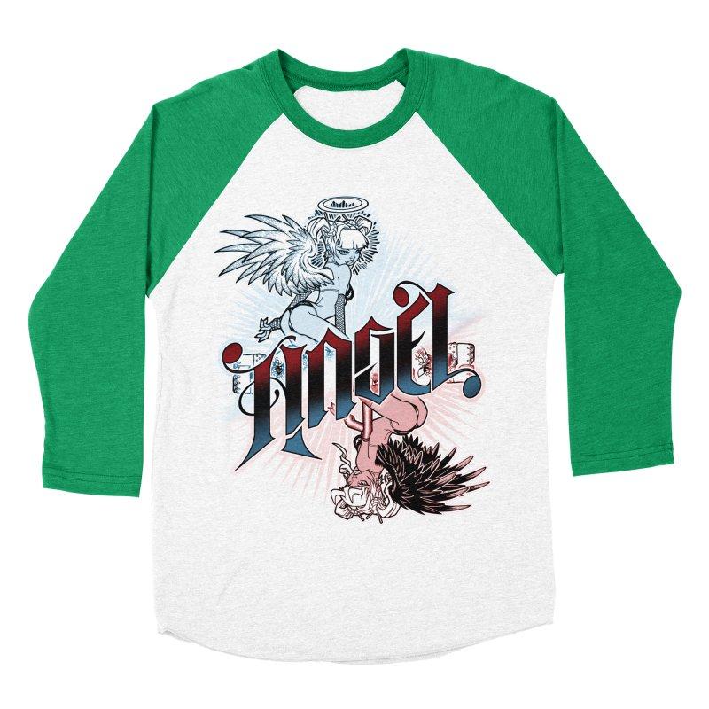 ANGEL DEVIL Men's Baseball Triblend T-Shirt by Inkdwell's Artist Shop