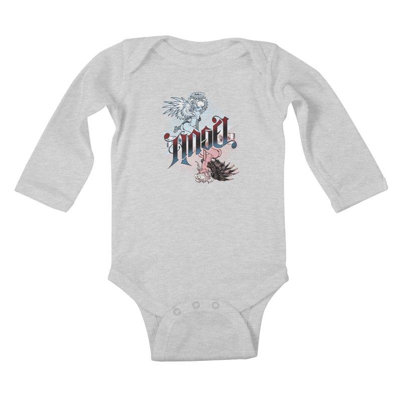 ANGEL DEVIL Kids Baby Longsleeve Bodysuit by Inkdwell's Artist Shop