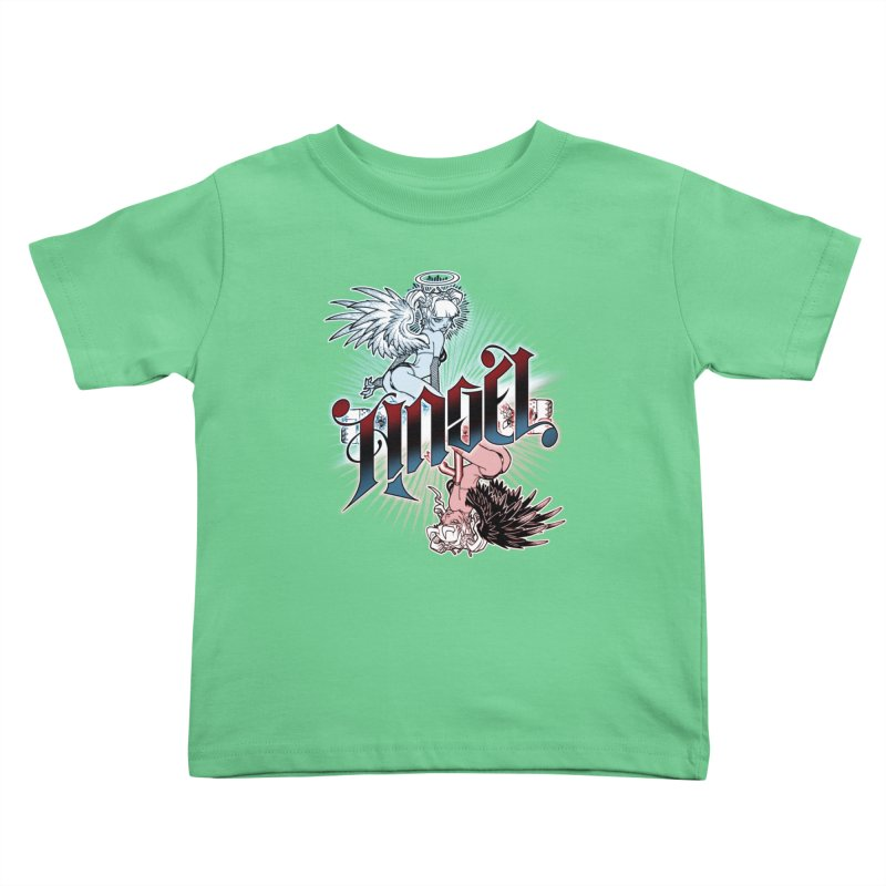 ANGEL DEVIL Kids Toddler T-Shirt by Inkdwell's Artist Shop