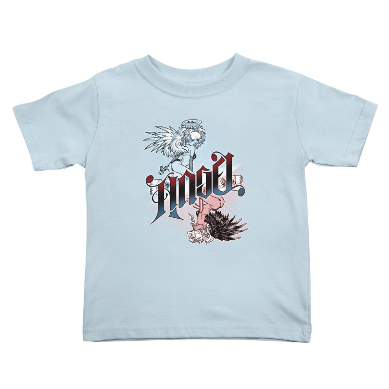 ANGEL DEVIL Kids Toddler T-Shirt by Inkdwell's Artist Shop