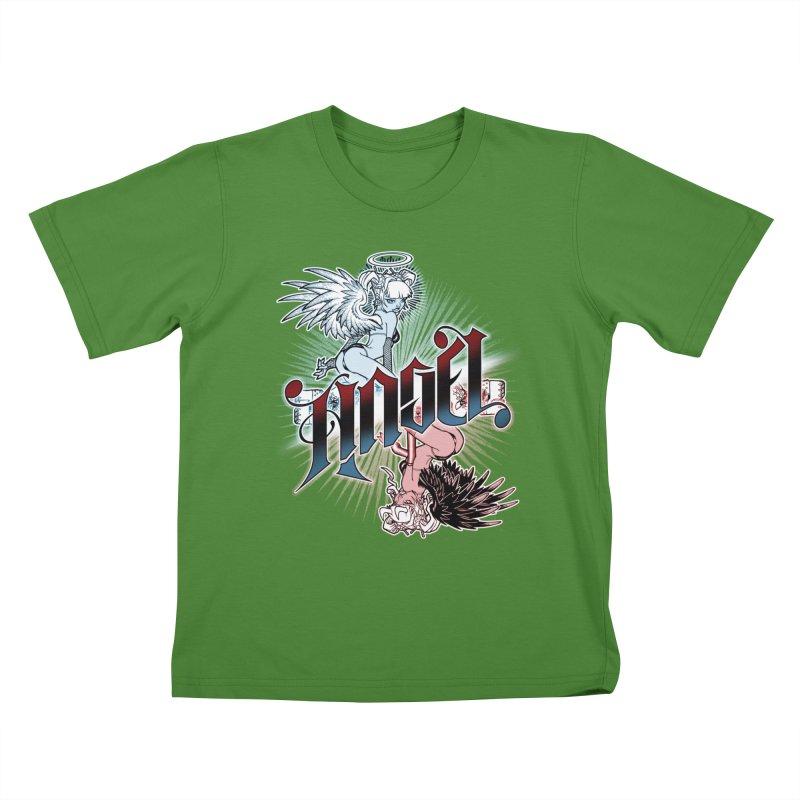 ANGEL DEVIL Kids T-Shirt by Inkdwell's Artist Shop