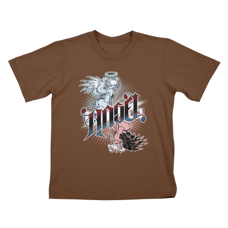 ANGEL DEVIL Kids T-Shirt by Inkdwell's Artist Shop