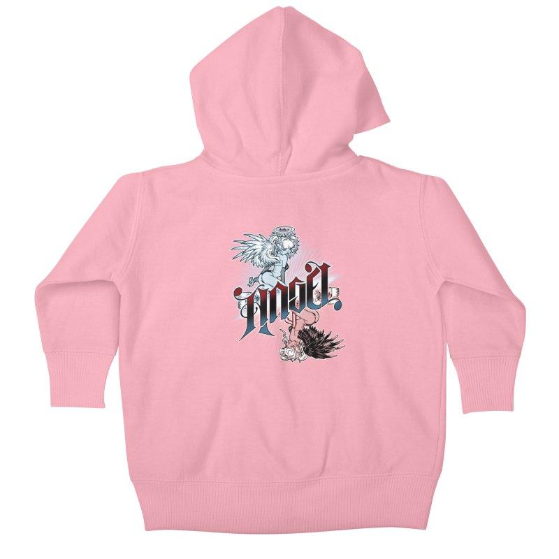 ANGEL DEVIL Kids Baby Zip-Up Hoody by Inkdwell's Artist Shop