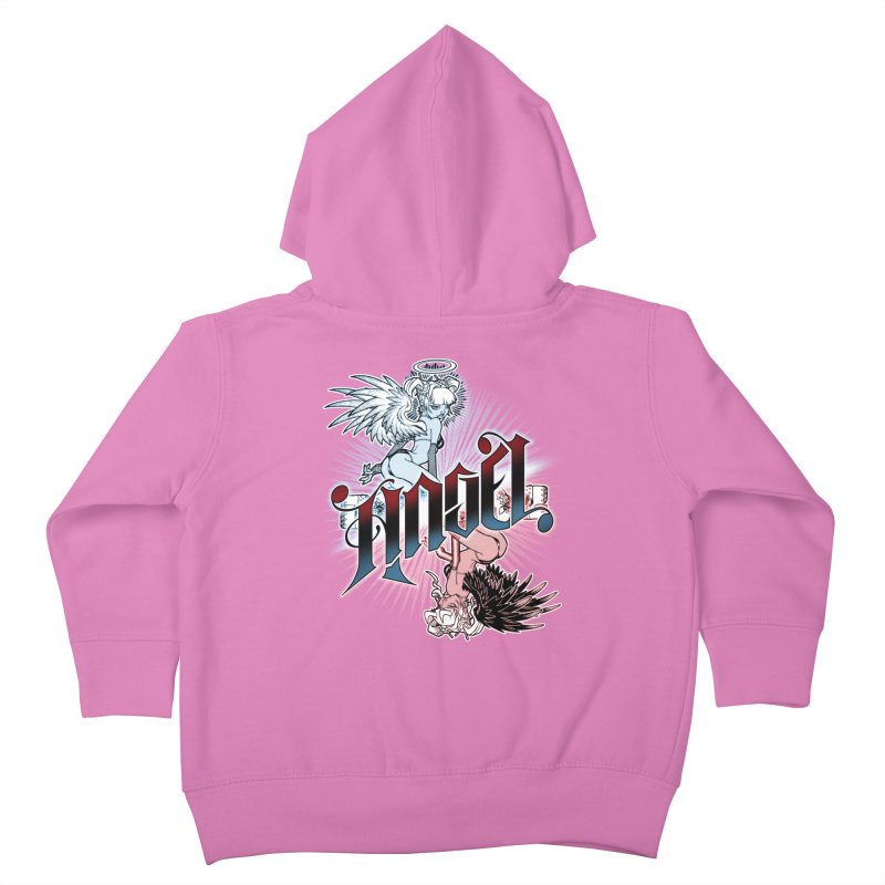 ANGEL DEVIL Kids Toddler Zip-Up Hoody by Inkdwell's Artist Shop
