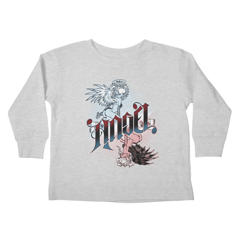 ANGEL DEVIL Kids Toddler Longsleeve T-Shirt by Inkdwell's Artist Shop