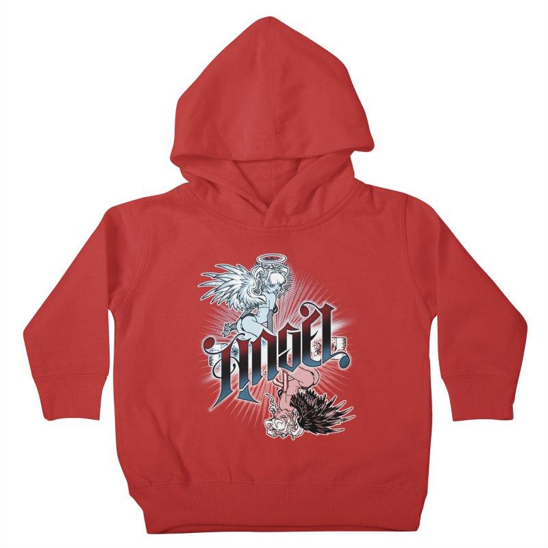 ANGEL DEVIL Kids Toddler Pullover Hoody by Inkdwell's Artist Shop