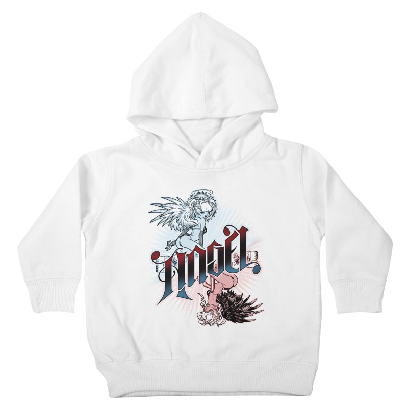 ANGEL DEVIL Kids Toddler Pullover Hoody by Inkdwell's Artist Shop