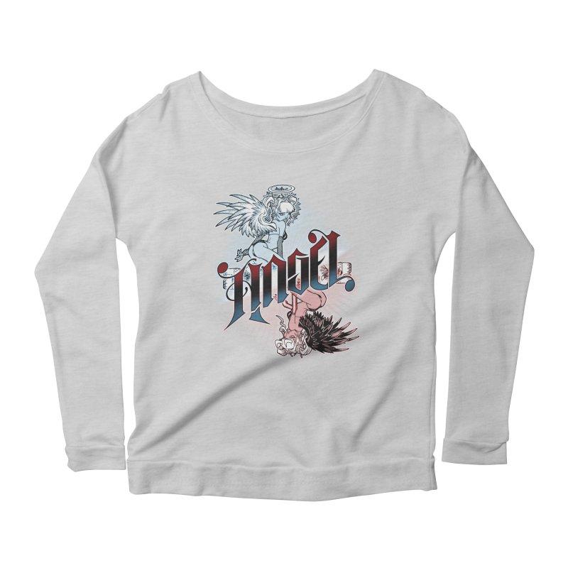 ANGEL DEVIL Women's Scoop Neck Longsleeve T-Shirt by Inkdwell's Artist Shop