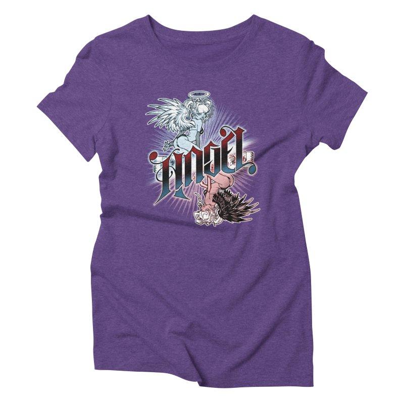 ANGEL DEVIL Women's T-Shirt by Inkdwell's Artist Shop