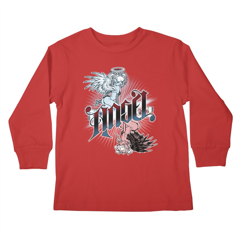 ANGEL DEVIL Kids Longsleeve T-Shirt by Inkdwell's Artist Shop