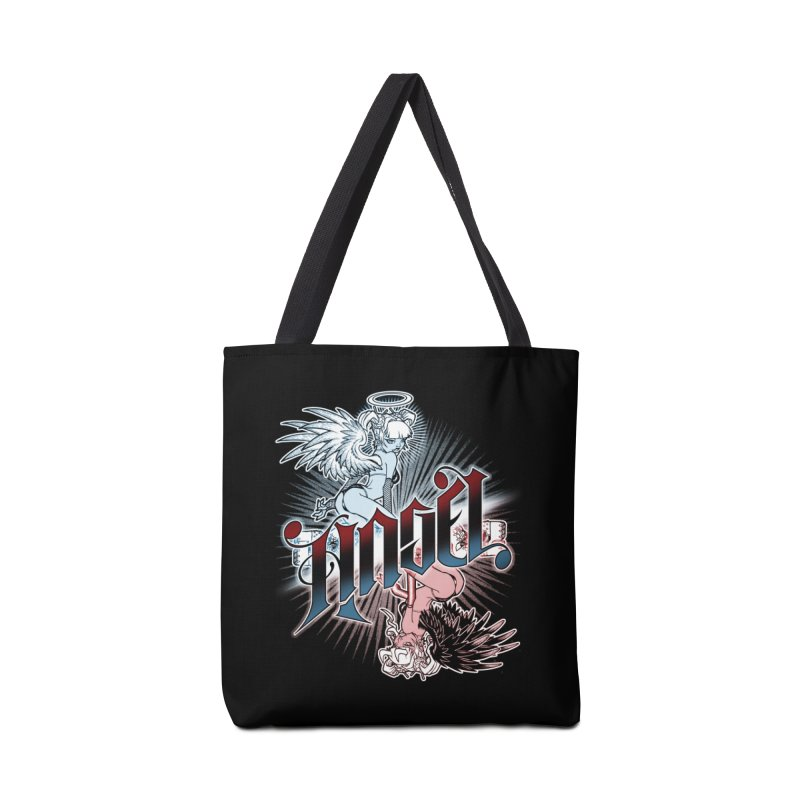 ANGEL DEVIL Accessories Tote Bag Bag by Inkdwell's Artist Shop