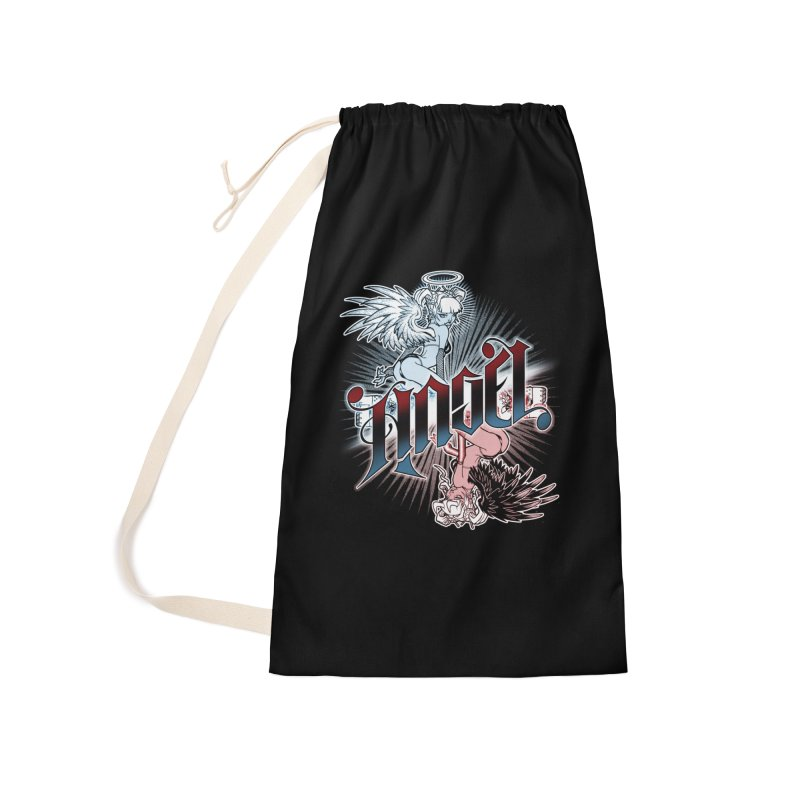 ANGEL DEVIL Accessories Laundry Bag Bag by Inkdwell's Artist Shop