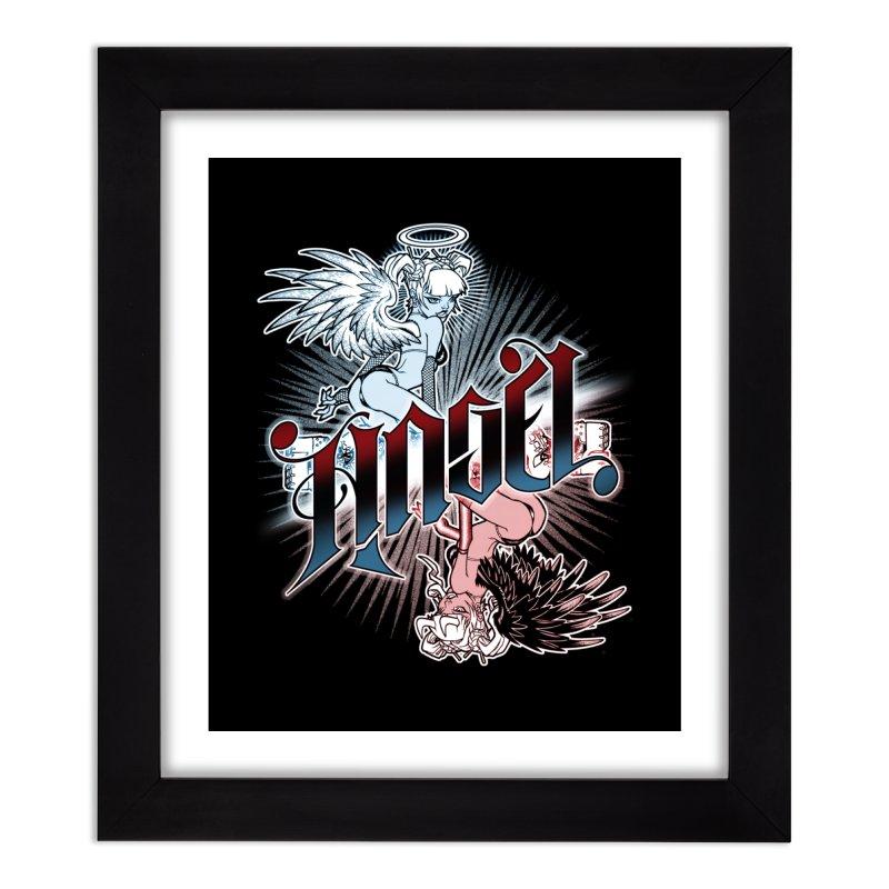 ANGEL DEVIL Home Framed Fine Art Print by Inkdwell's Artist Shop