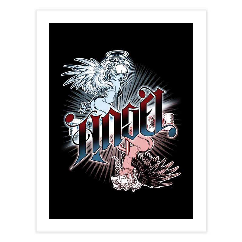 ANGEL DEVIL Home Fine Art Print by Inkdwell's Artist Shop