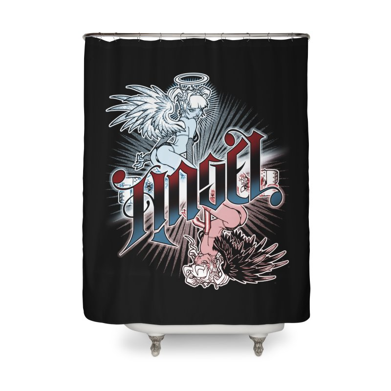 ANGEL DEVIL Home Shower Curtain by Inkdwell's Artist Shop