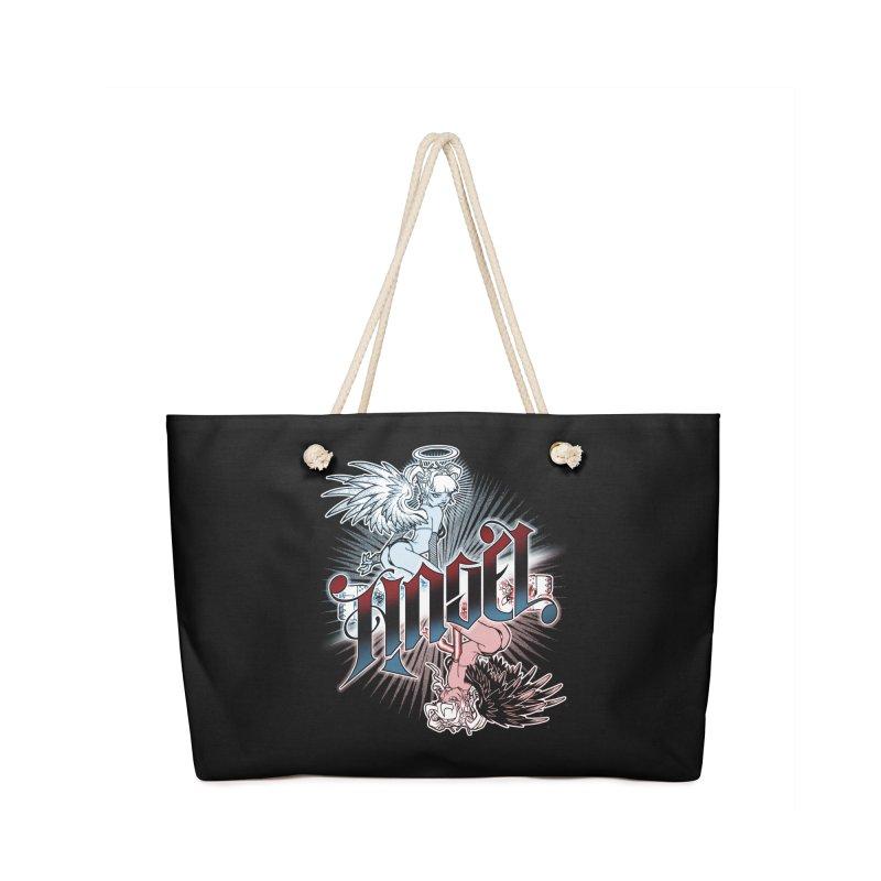 ANGEL DEVIL Accessories Bag by Inkdwell's Artist Shop