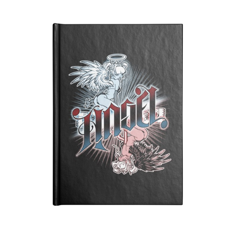 ANGEL DEVIL Accessories Lined Journal Notebook by Inkdwell's Artist Shop