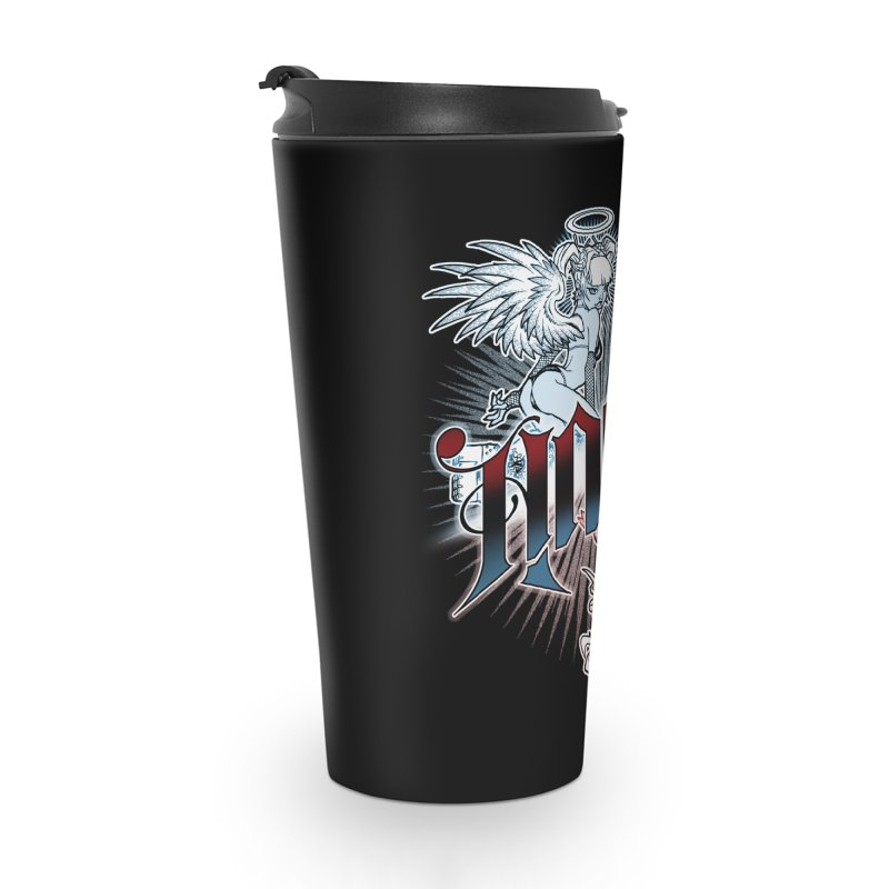 ANGEL DEVIL Accessories Travel Mug by Inkdwell's Artist Shop
