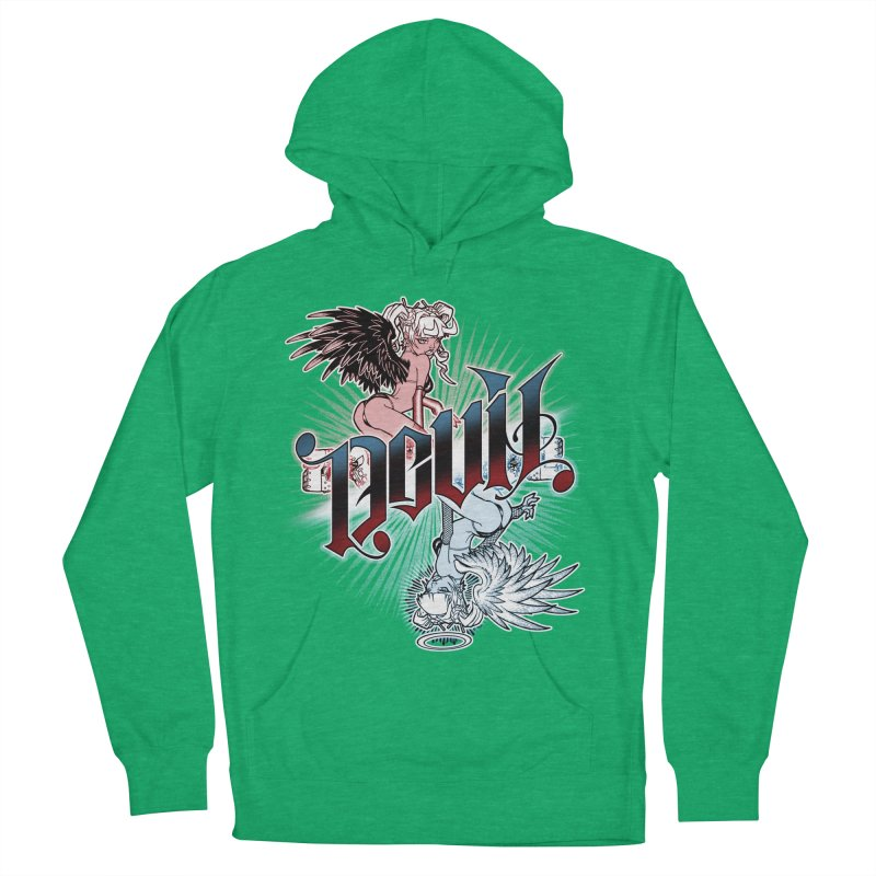 DEVIL ANGEL Women's French Terry Pullover Hoody by Inkdwell's Artist Shop