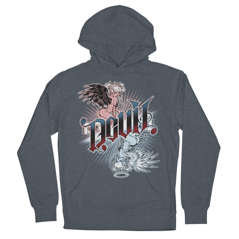 DEVIL ANGEL Men's French Terry Pullover Hoody by Inkdwell's Artist Shop