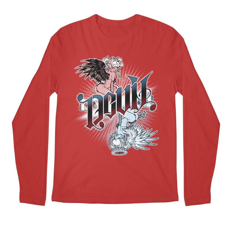 DEVIL ANGEL Men's Regular Longsleeve T-Shirt by Inkdwell's Artist Shop